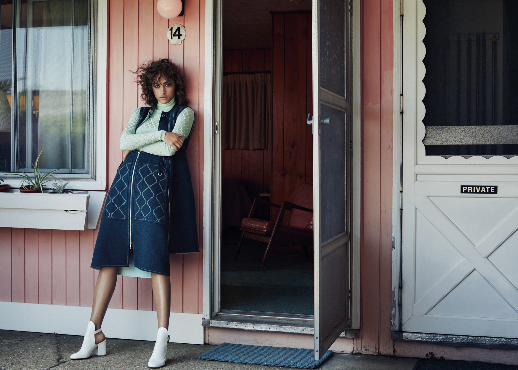 Fashion Photographer Michael Schwartz: model Alanna Arrington for Vogue Arabia Magazine