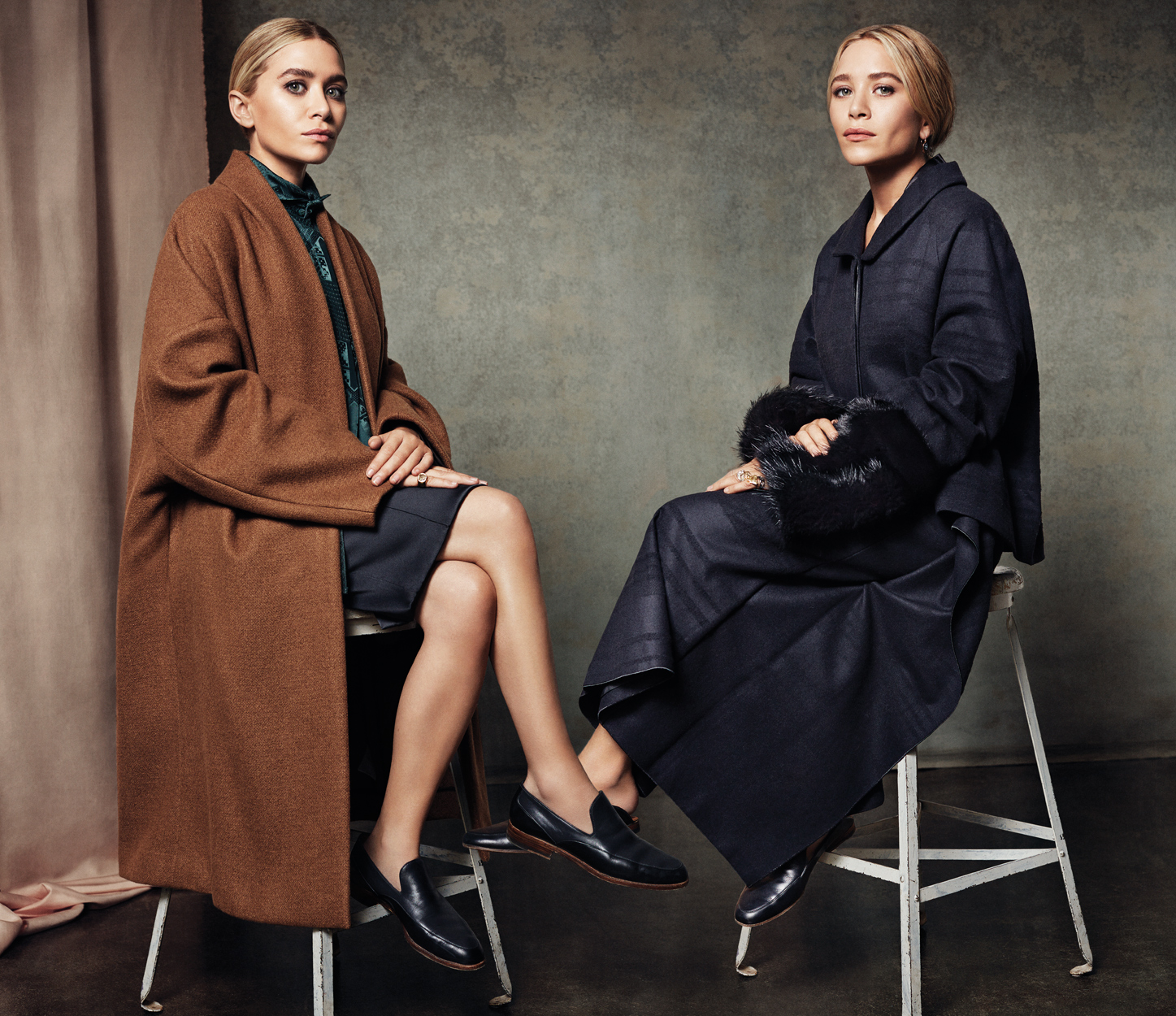 Celebrity Photographer Michael Schwartz: Olsen Twins for Vogue Korea magazine in The Row fashion