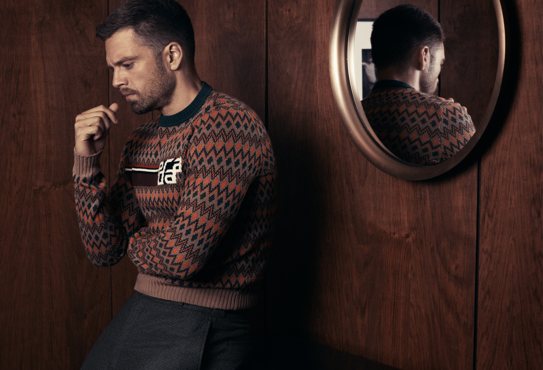 Celebrity Photographer Michael Schwartz: Sebastian Stan in Prada for Style magazine