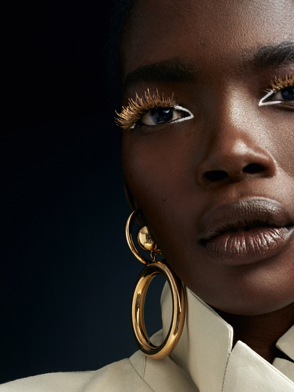 Fashion Photographer Michael Schwartz: model Aamito Lagum for Vanity Fair Italy magazine