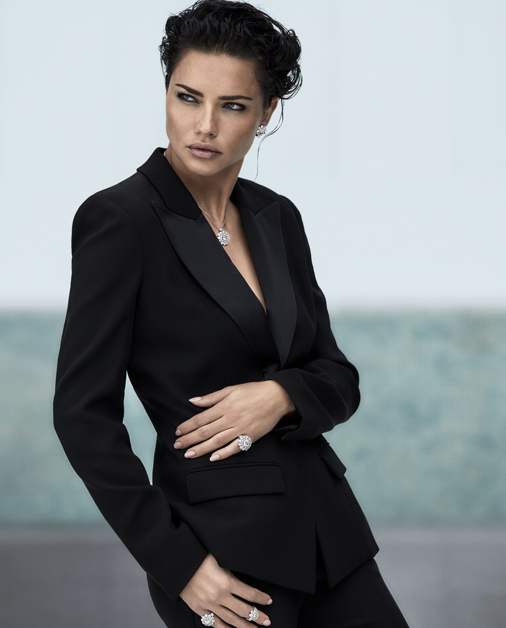 Fashion Photographer Michael Schwartz: model Adriana Lima for Chopard advertising