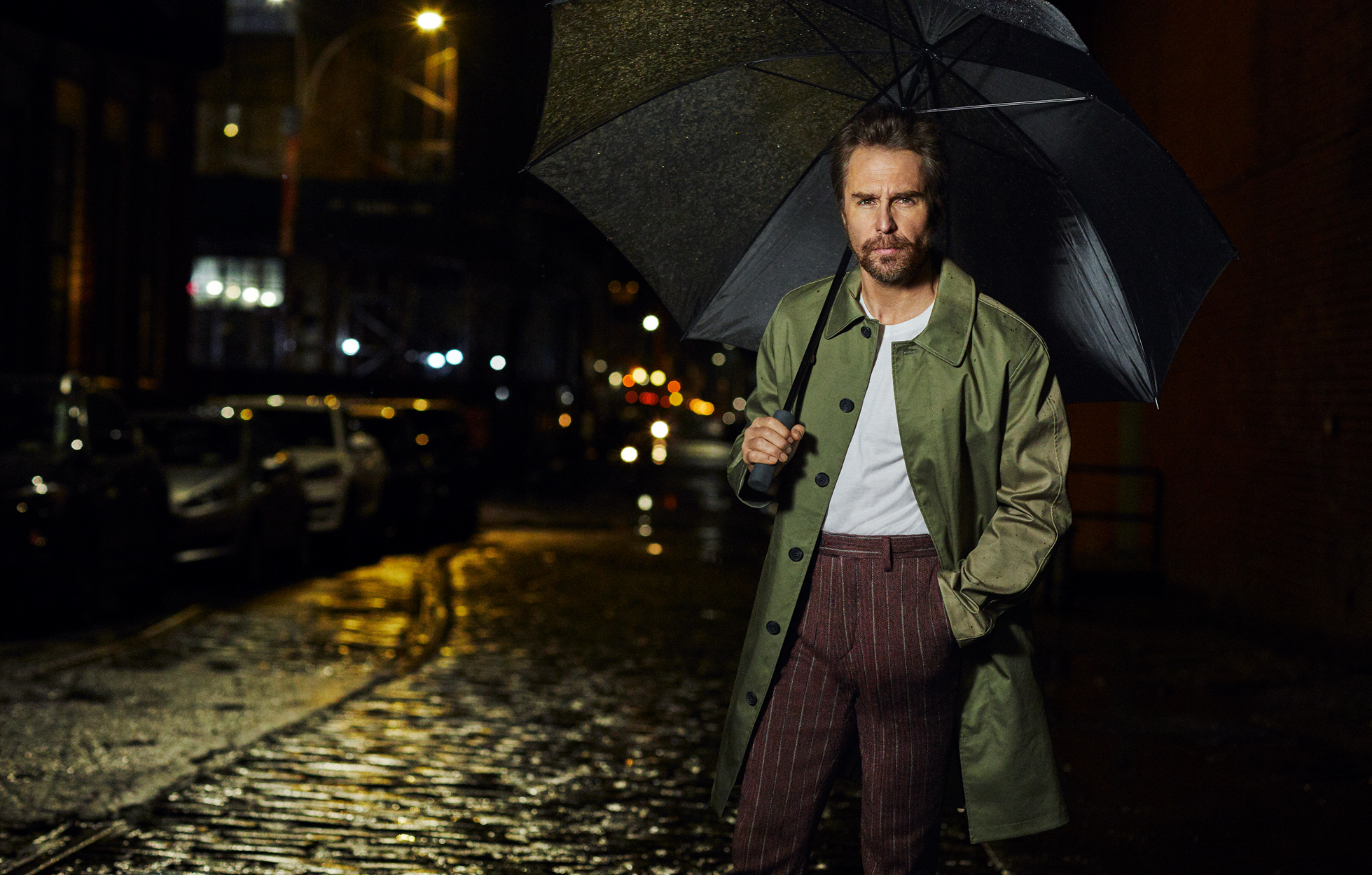 Celebrity Photographer Michael Schwartz: Sam Rockwell for Men