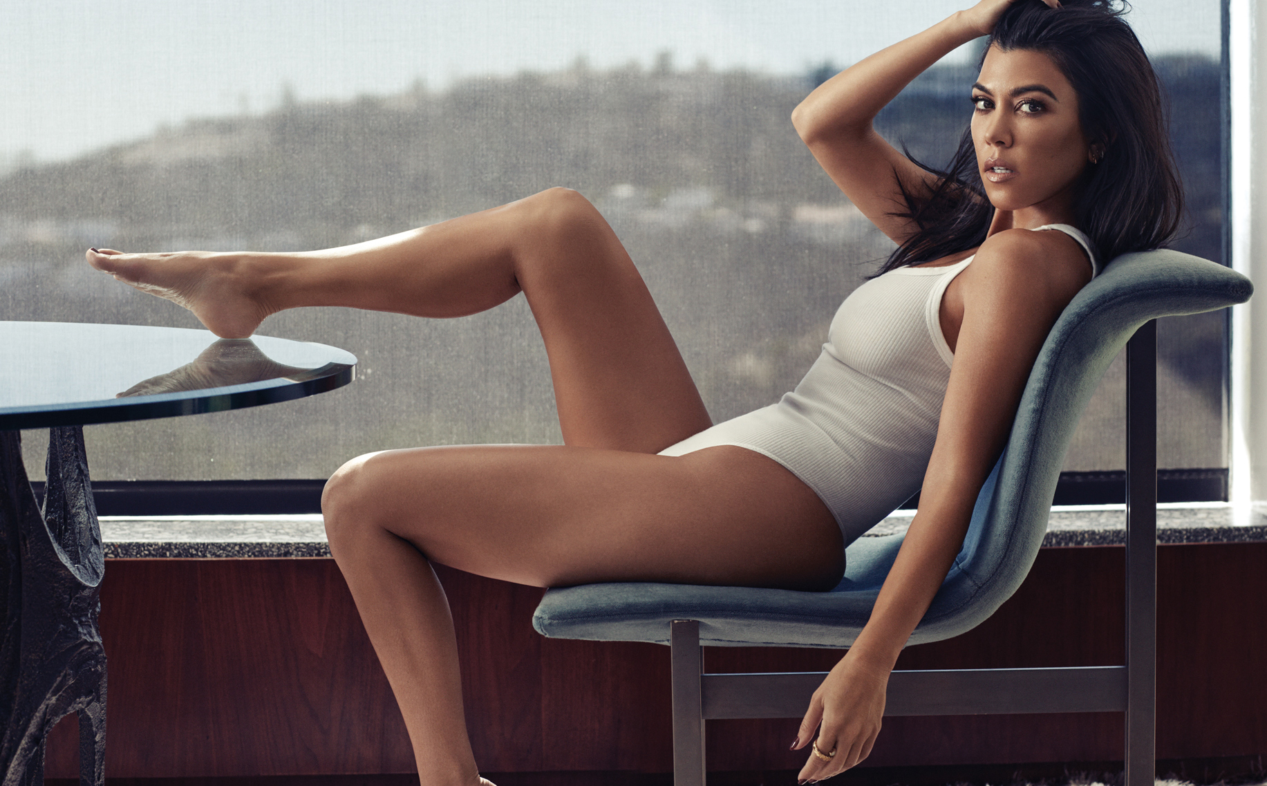 Celebrity Photographer Michael Schwartz: Kourtney Kardashian for GQ Mexico magazine in CK