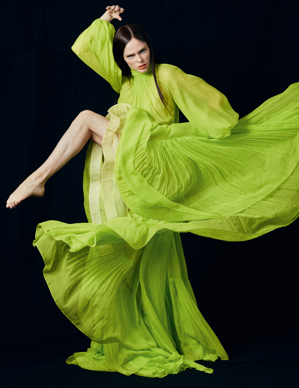 Fashion Photographer Michael Schwartz: model Coco Rocha for Vanity Fair Italy magazine