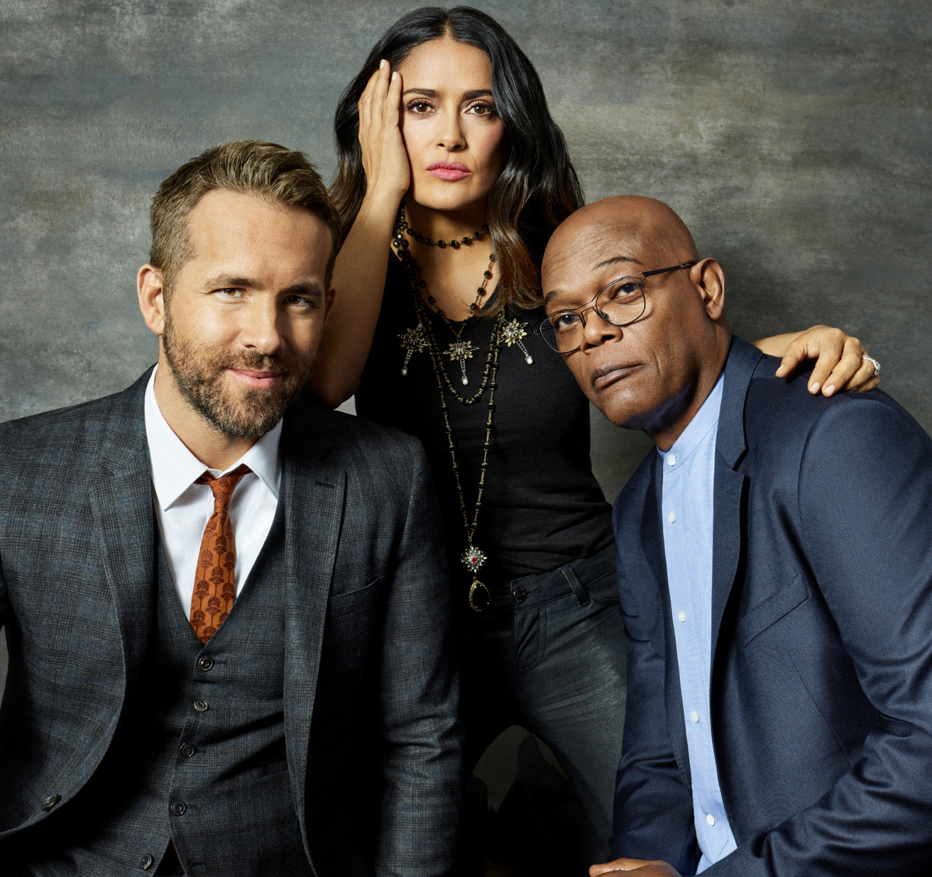 Celebrity Photographer Michael Schwartz: Ryan Reynolds, Salma Hayek, Samuel Jackson for Lionsgate Hitman