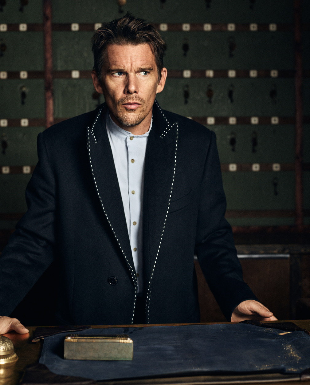 Celebrity Photographer Michael Schwartz: Ethan Hawke for Icon Magazine