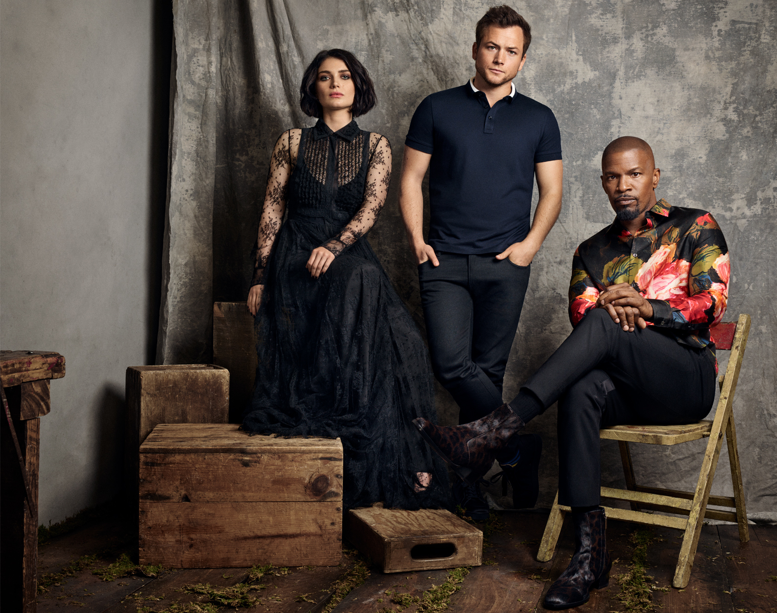 Celebrity Photographer Michael Schwartz: Eve Hewson, Taron Egerton, Jamie Foxx for Lionsgate Robin Hood movie