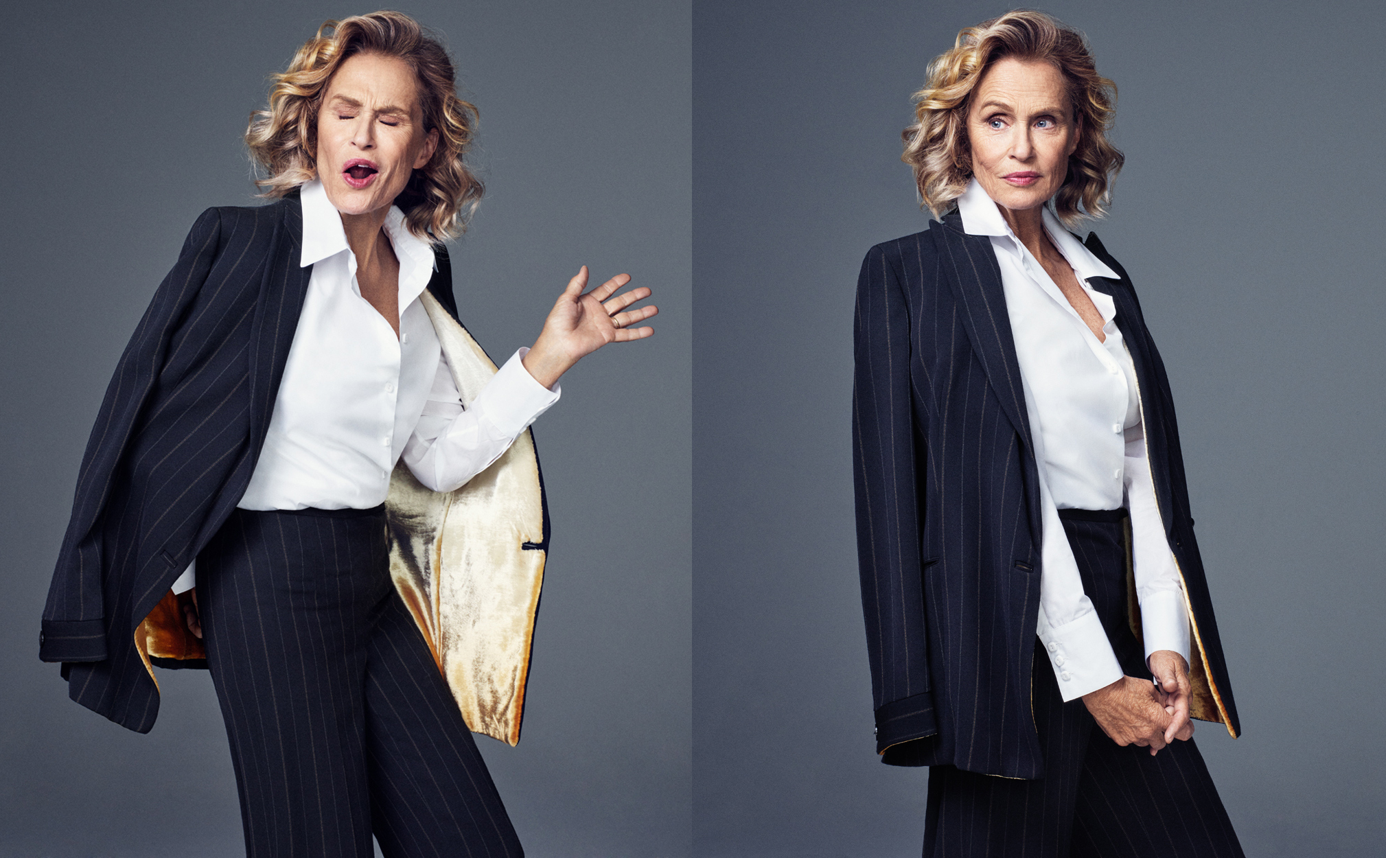 Celebrity Photographer Michael Schwartz: Lauren Hutton for Harper