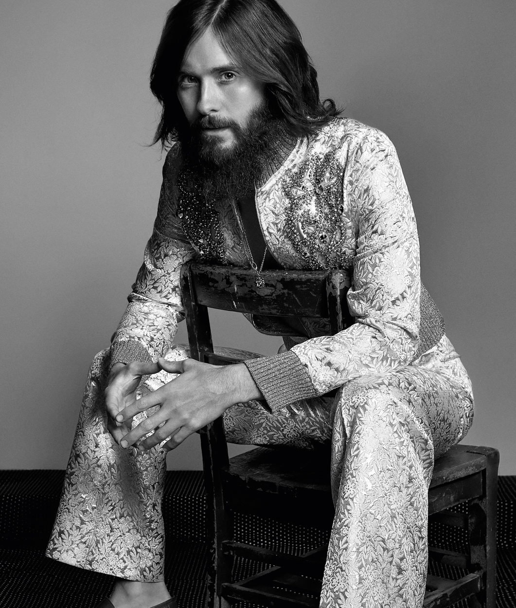 Celebrity Photographer Michael Schwartz: Jared Leto for Icon Magazine cover in Gucci