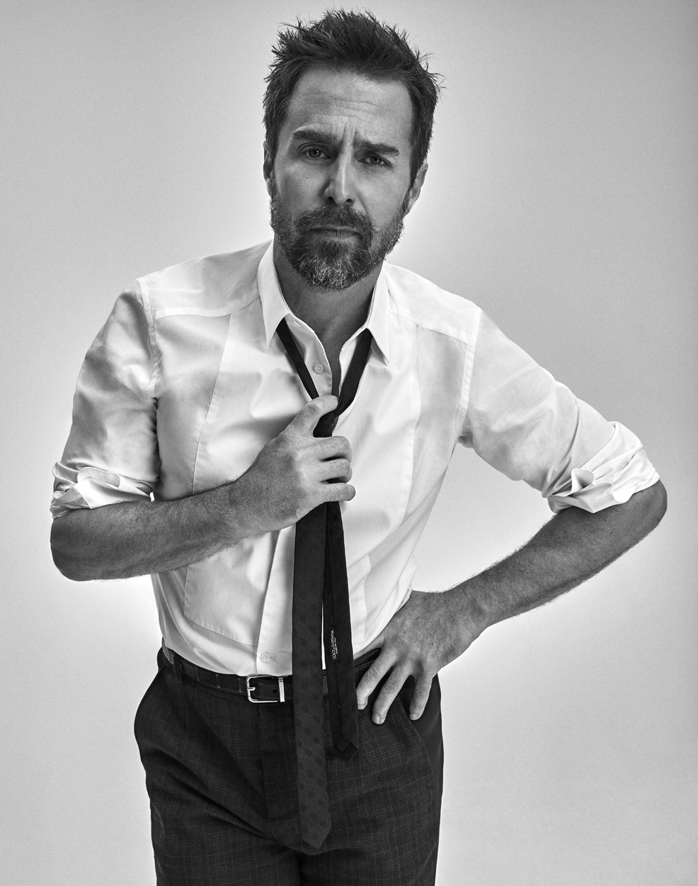 Celebrity Photographer Michael Schwartz: Sam Rockwell for Icon Magazine cover