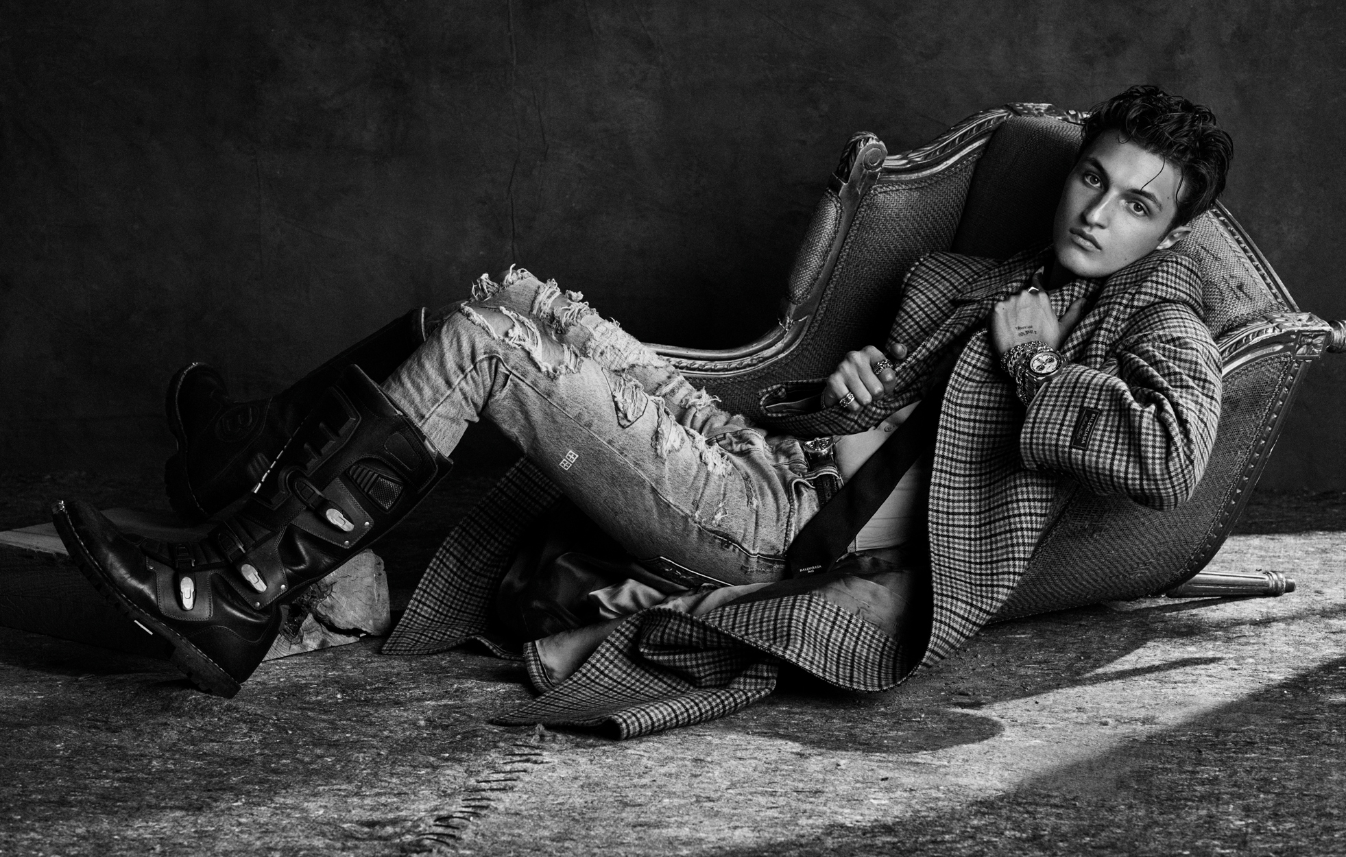 Fashion Photographer Michael Schwartz: Anwar Hadid for Vogue Man Arabia magazine