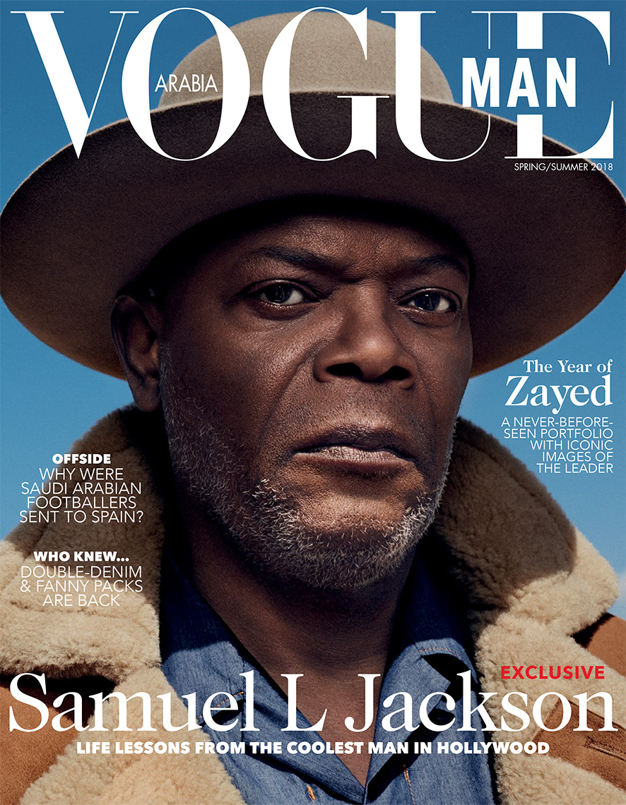 Celebrity Photographer Michael Schwartz: Samuel L. Jackson for Vogue Man Arabia magazine cover