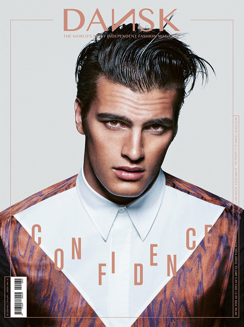 Fashion Photographer Michael Schwartz: Matthew Terry for Dansk magazine cover