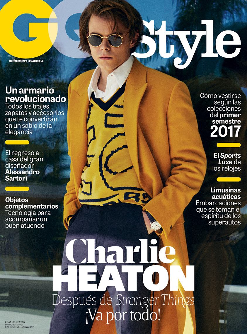 Celebrity Photographer Michael Schwartz: Charlie Heaton for GQ Style Mexico magazine cover