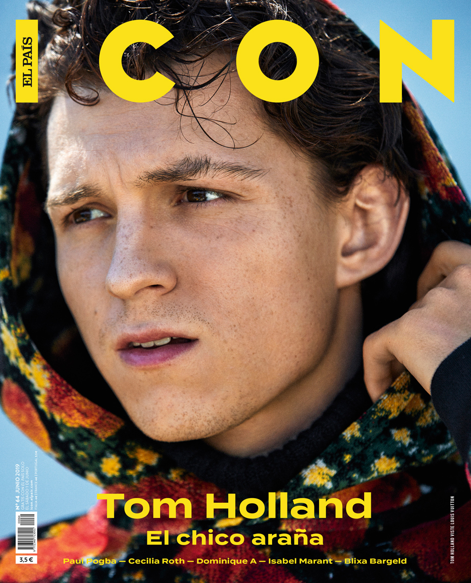 Celebrity Photographer Michael Schwartz: Tom Holland for Icon Magazine cover in Vuitton