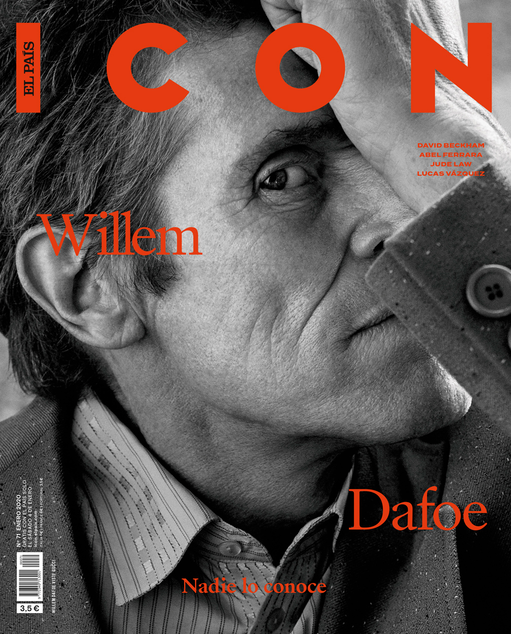 Celebrity Photographer Michael Schwartz: Willem Dafoe for Icon Magazine cover in Gucci