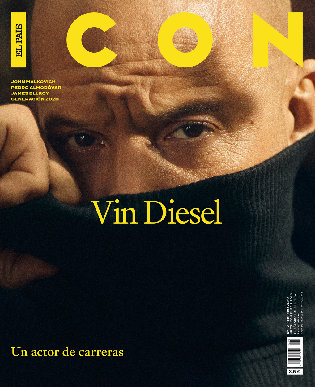Celebrity Photographer Michael Schwartz: Vin Diesel for Icon Magazine cover