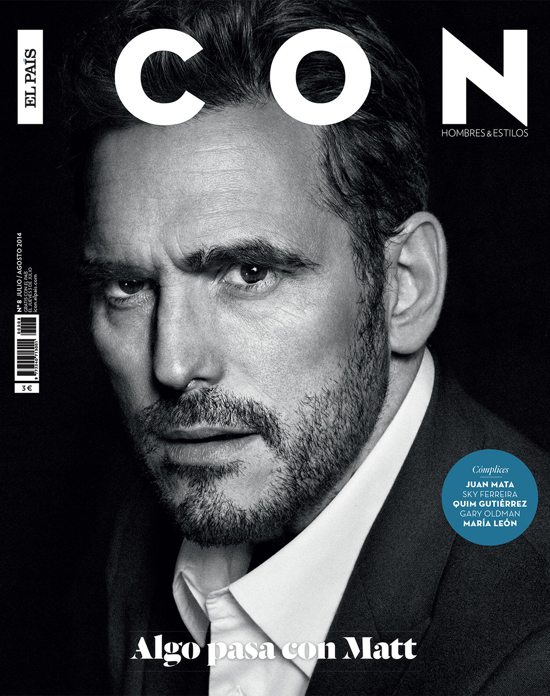 Celebrity Photographer Michael Schwartz: Matt Dillon for Icon magazine cover