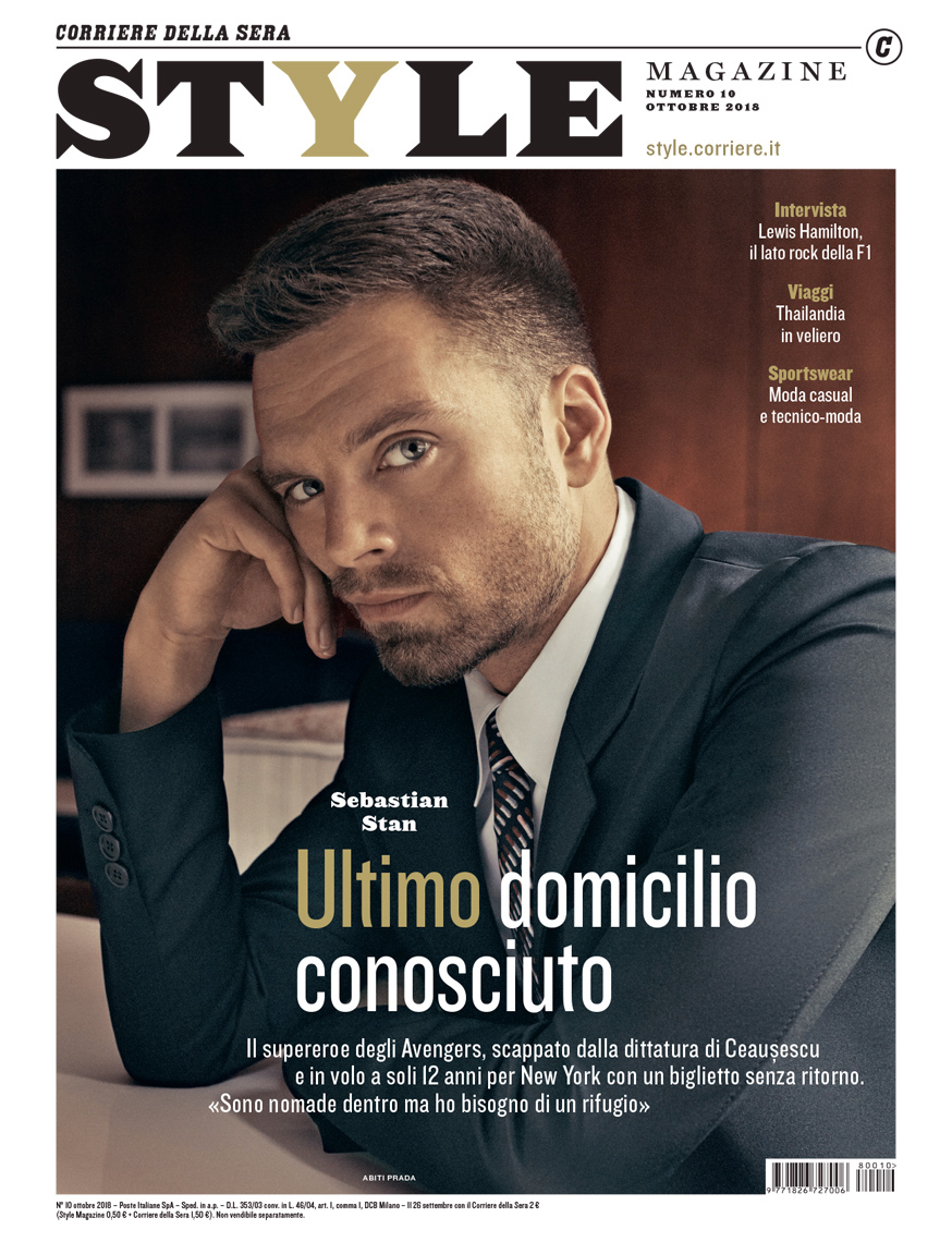 Celebrity Photographer Michael Schwartz: Sebastian Stan for Style magazine cover in Prada
