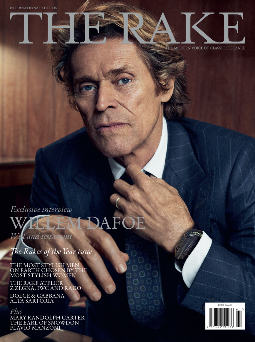 Celebrity Photographer Michael Schwartz: Willem Dafoe for The Rake magazine cover