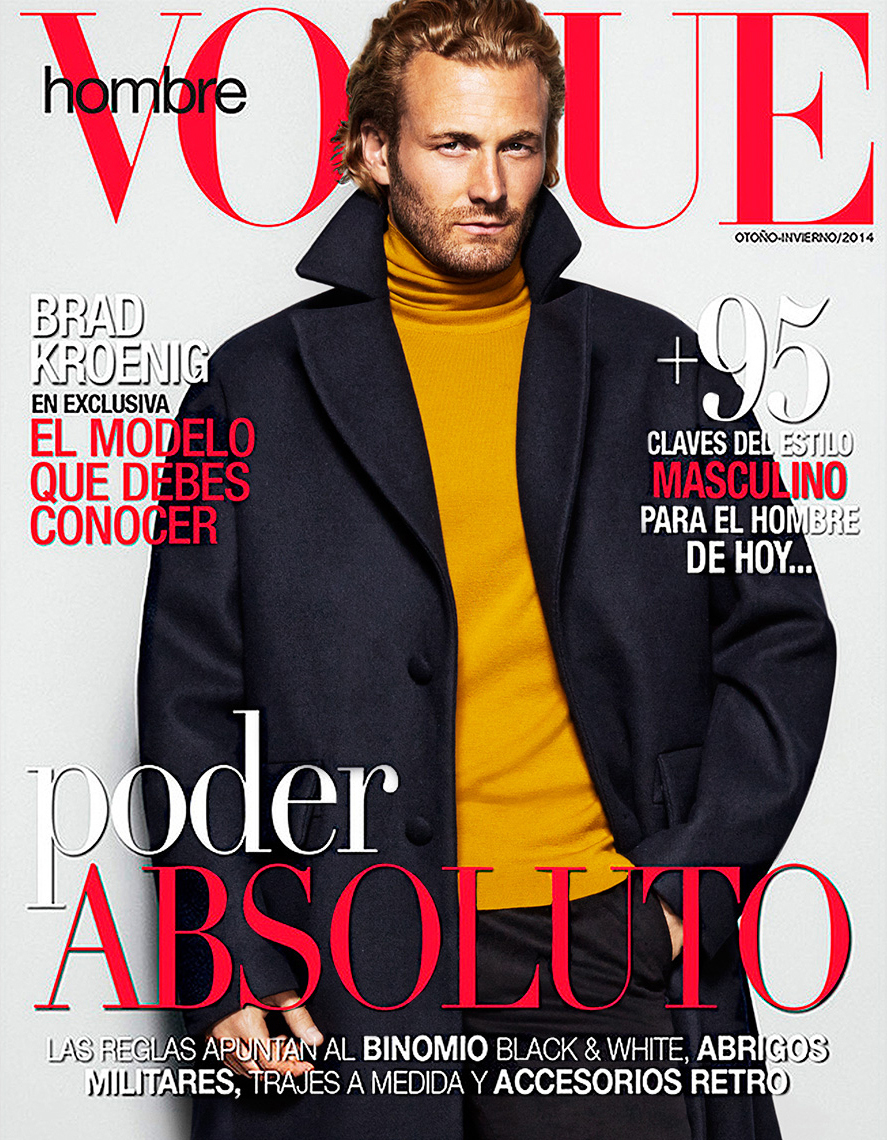 Fashion Photographer Michael Schwartz: Brad Kroenig for Vogue Hombre magazine cover
