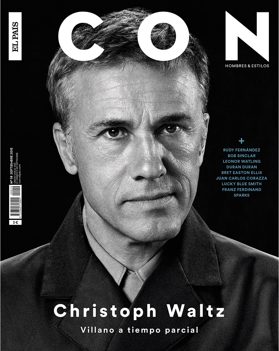 Celebrity Photographer Michael Schwartz: Christophe Waltz for Icon magazine cover